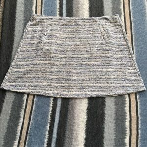 NWT LOFT Plus Grey/Beige Tweed Like Skirt SZ 22